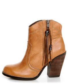 eb9431bc806 Kelsi Dagger Hanly Cognac Leather High Heel Ankle Boots Kelsi Dagger