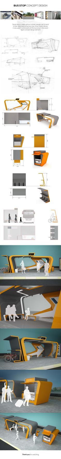 Seven days a week without a break, people use to tend in their daily lives at the bus stop. Given these indices, it was used in some parts of the bus stop in the seven figure concept design element.