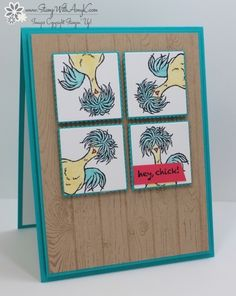 Hey, Chick Window Card by amyk3868 - Cards and Paper Crafts at Splitcoaststampers