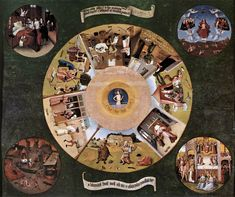 BOSCH, Hieronymus  The Seven Deadly Sins  c. 1480  Oil on panel, 120 x 150 cm  Museo del Prado, Madrid