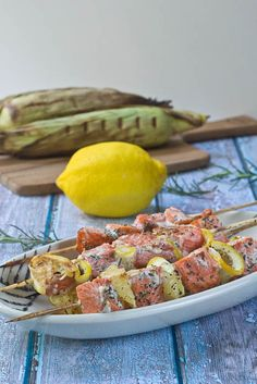 Salmon Kebabs - this quick recipe makes for a great healthy dinner option!