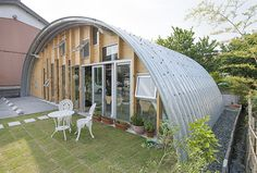 Silo House, Hut House, Arch Building, Building A House, Building Green Homes, Quonset Hut Homes, Arched Cabin, Green House Design, Arch House