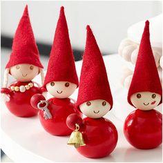 Severští skřítci jsou milou vánoční dekorací a můžete si z nich udělat celou sbírku
