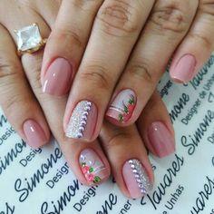 Manicure Colors, Manicure And Pedicure, Nail Colors, Manicure Ideas, Glitter French Manicure, Wedding Manicure, Stylish Nails, Beauty Nails, Cute Nails