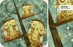 Monkeys! What's not to love about this illustration by Alberto Cerriteno?