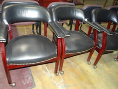 Chairs on wheels! We have a limited selection of these. Come see us before they are gone.