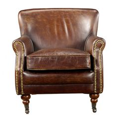 Safari leather chair ~ perfect for reading about animals and adventures in faraway lands!