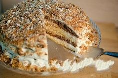 The fastest and delicious cake Delicious Cake Recipes, Yummy Cakes, Russian Cakes, Quick Cake, European Cuisine, Hungarian Cake, White Cakes, Good Food, Yummy Food