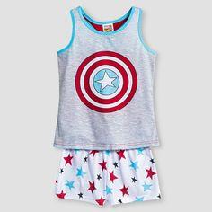 Girls' Marvel Superheroes 2-Piece Pajama Set - Multicolored