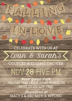 Falling in Love Couples Shower Invitation by NODEstationery