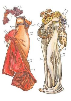 In the style of Mucha | Gabi's Paper Dolls