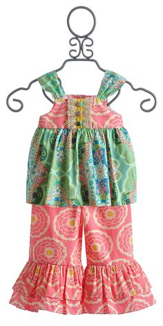 Peaches 'N Cream Little Girls Boutique Summer Outfit $78.00