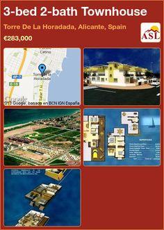 3-bed 2-bath Townhouse in Torre De La Horadada, Alicante, Spain ►€283,000 #PropertyForSaleInSpain