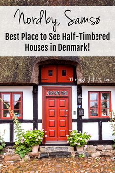 Want to see colorful half-timbered houses in Denmark? Nordby has the best preserved historic straw-roofed houses in Denmark, and it's such a cute town to explore! Visit Denmark, Denmark Travel, Cool Places To Visit, Great Places, Places To Travel, Europe Travel Tips, Travel Guides, Travel Advice, Travel Destinations