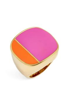 Trina Turk Colorblock Enamel Ring
