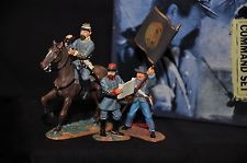 BRITAINS 17224 GETTYSBURG CONFEDERATE METAL TOY SOLDIER FIGURE COMMAND SET