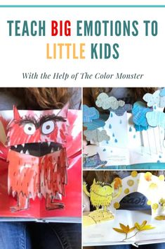 Teach your child about big emotions with the help of the color monster! Plus get a free download packet. #downloadpsd #freeprintablesforkids #kids #activities