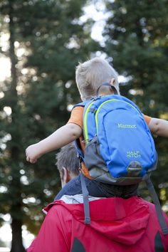 Don't forget your little guys! they will love carrying their very own packs! :) Marmot Kids Half Hitch Pack - Blue. PHOTO: Ben Lucero
