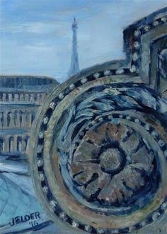 "Daily Paintworks - ""Paris No. 100"" - Original Fine Art for Sale - © Judith Elder"