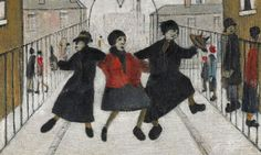 Home From the Pub, United Kingdom, 1944, by LS Lowry.