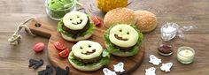 Ricette creative per la tavola di Halloween: fantaburgers filanti di manzo con galbanino.