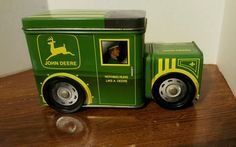 John Deere Collectible Tin Truck With Storage  Double Compartment #JohnDeere