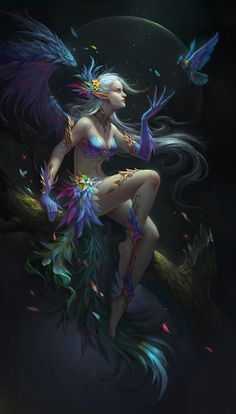 Kai Fine Art is an art website, shows painting and illustration works all over the world. Fantasy Artwork, 3d Fantasy, Fantasy Movies, Magical Creatures, Fantasy Creatures, Beautiful Creatures, Fairy Pictures, Game Character Design, Tumblr