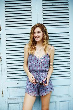 Chiara Ferragni, The blonde salad The Blonde Salad, Tankini, Vietnam, Print Patterns, Summer Outfits, Rompers, Fancy, Chic, Stylish