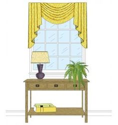 Basic Pleated Single Swag with Jabots - M'Fay Patterns Window Swags, Single Swag, Curtain Patterns, Curtains With Blinds, Home Bedroom, Drapery, Pattern Fashion, Window Treatments, Projects To Try