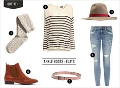 Ankle Boots | Rue - not sure I can pull off such an eclectic outfit, but I like it.