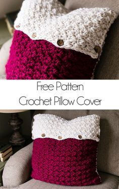 I just love the look of crocheted or knitted pillow covers... They add so much texture and warmth to a sofa or bed. I've been wanting one of my own for a long time, so of course I had to make one myself. I used super bulky yarn and some wooden buttons for a natural look and I just love how it turned out! (*Some of the links in this post are affiliate links, which means I receive a small portion of the sale if you decide to make a purchase. ) Don't you just love the texture this sti...