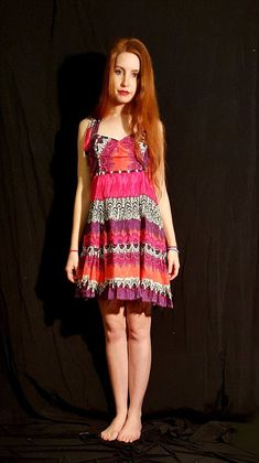 An upcycle dress in South Africa for myself, revamped from a maxi skirt. Prettily patterned in pink, this is my new favourite summer dress. Pink Summer, Pretty In Pink, Summer Dresses, Studio, Skirts, Pattern, Fashion, Summer Sundresses, Moda