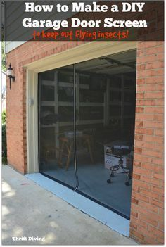 How To Make A Diy Garage Door Screen With A Zipper Garage Screen