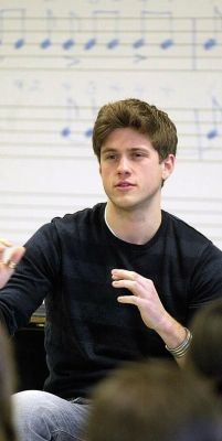 Aaron Tveit- I'd happily do music theory exercises if he were there :D