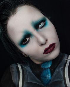 "205 Likes, 13 Comments -  MothQueen  (@mothqueenmakeup) on Instagram: ""Another shot of my Marilyn Manson makeup look, people have given me so much love on this! So Manson…"""
