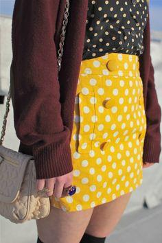 Polka dot pretty. #style