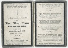 """Using """"In Memoriam Cards"""" to trace your Irish roots"""