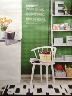 Perfect looking green wallpaper! Claesson Koivisto Rune 1822, said to get its inspiration from Japanese Ginkgo-leaf.