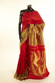 Kancheepuram, Kanjipuram- silk light parrot green blood red saree with blouse