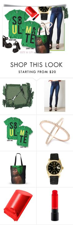 """Soul and/or Mate Couples T-Shirt"" by linseygreen ❤ liked on Polyvore featuring Surratt, Rolex, Bobbi Brown Cosmetics, MAC Cosmetics and Topshop"