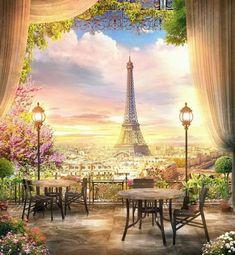 Background For Photography, Photography Backdrops, Photography Uk, Old Lanterns, Art Origami, Tower Garden, Sunset Landscape, Paris City, Paris Eiffel Tower