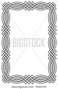 Celtic Knot Scrollwork Border   Stock vector