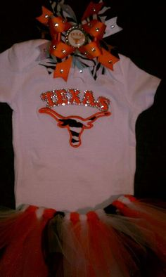 Texas Longhorns Outfit. $55.00, via Etsy.