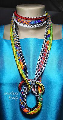 Marlene Brady.  Wearing Bead Crochet  LOVE THE COLORS!