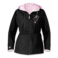 Women's Anorak Supports Breast Cancer Causes With every purchase a donation is made to Hope for a Cure.
