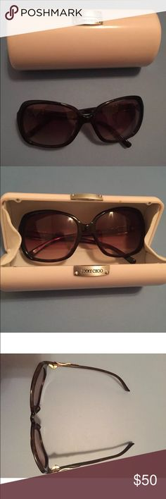 Jimmy Choo Sunglasses Left side slightly bent - see pictures. Still fit well! Jimmy Choo Accessories Sunglasses