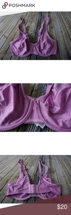 Wacoal Basic Beauty Full Figure Underwire Bra Hi!  This is a women's Basic Beauty Full Figure Seamless Underwire Bra. It is free from rips, stains and holes. It is a lilac purple color and the size is 34D Wacoal Intimates & Sleepwear Bras