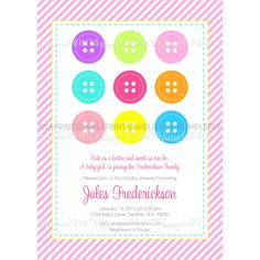 Cute As A Button Baby Shower Invitations To Make Engaging Baby Shower  Invitation Design Online 3110201619