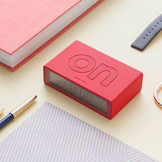 Flip Alarm Clock - Red - by Lexon #MONOQI