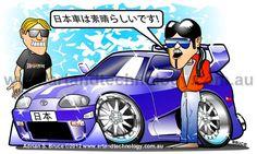 Japanese Tuner Car Cartoon